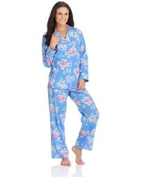 Lauren by Ralph Lauren Piped Trim Pajama Set - Lyst