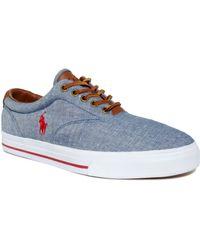 Ralph Lauren Polo Vaughn Lace Sneakers - Lyst
