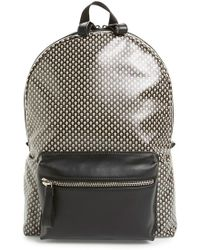 Alexander McQueen | Skull Print Coated Canvas Backpack With Leather Trim | Lyst