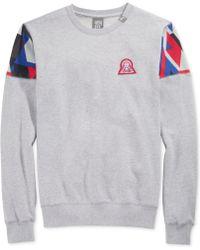 LRG Lifted 47 Printed-shoulder Fleece Sweater - Lyst