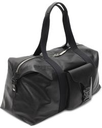 Alexander McQueen Leather Tech Gym Bag black - Lyst