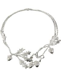 Alexander McQueen Silver-plated Acorn Choker - Lyst