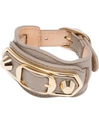 Balenciaga | Holiday Collection Classic Metallic Edge Bracelet | Lyst