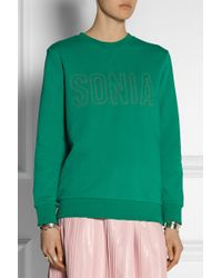 Sonia By Sonia Rykiel Embroidered French-Terry Sweatshirt - Lyst