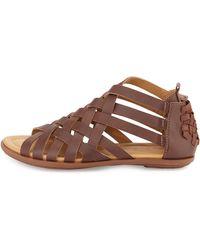 Atelje71 - Flint Woven Leather Sandal - Lyst