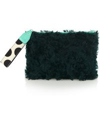 House of Holland - Green Fur Bag Of Tricks - Lyst