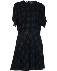 Miu Miu Blue Short Dress - Lyst
