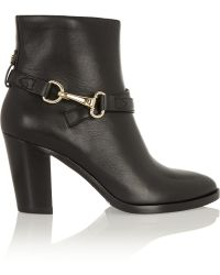 Burberry Horsebit-detailed Leather Ankle Boots - Lyst