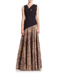 Black Halo Vaccaro Gown black - Lyst