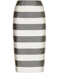 Burberry London Silk And Cotton Skirt - Lyst
