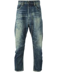 Diesel Distressed Straight Leg Jeans - Lyst