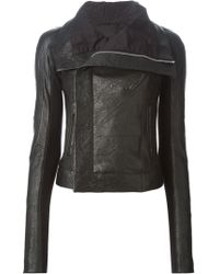 Rick Owens Black Biker Jacket - Lyst