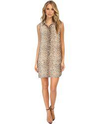 Equipment Sleeveless Lucida Dress Leopard Print - Lyst