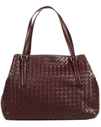 Bottega Veneta Handbag Opened Shopping Intrecciato Small Size - Lyst
