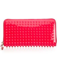 Christian Louboutin Panettone Spike-Studded Wallet pink - Lyst