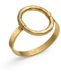 Tory Burch - Oval Metal Bracelet - Lyst