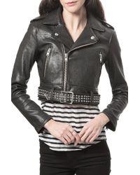 IRO Zekine Leather Jacket - Lyst