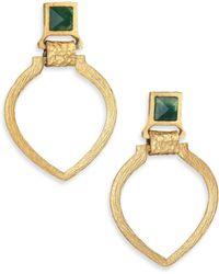 Stephanie Kantis | Tier Green Moss Agate Doorknocker Earrings | Lyst