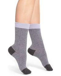 Pantherella | 'sylvie' Stripe Cashmere Blend Socks - Purple | Lyst