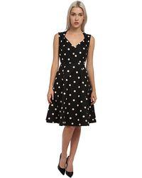 Kate Spade Deco Dot A Line Dress - Lyst