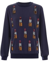 House Of Holland Lipstick Embellished Sweat - Lyst