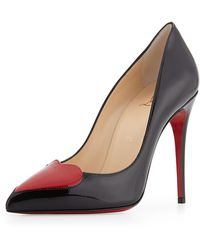 Christian Louboutin Cora Patent Heart Red Sole Pump - Lyst