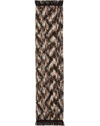 Missoni Woven Zigzag Border Scarf - Black - Lyst