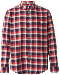 MSGM Plaid Pattern Shirt - Lyst