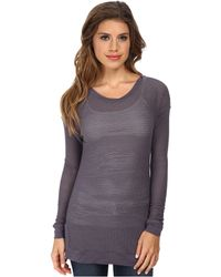 Tart Collections Gray Ramona Top - Lyst
