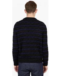 Raf Simons | Black Striped Wool-blend Sweater | Lyst
