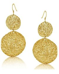 Belcho | Large Hammered Cascading Disks Earrings | Lyst