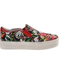Ash Jungle Slip-On Sneaker Multi Coral Leather - Lyst