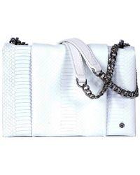 Halston Heritage | Alligator Embossed Chain Shoulder Bag | Lyst