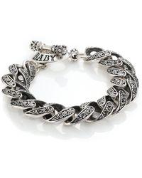 King Baby Studio   Engraved Scroll Link Bracelet   Lyst
