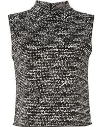 Vince Camuto Sl Crop Roll Neck Top - Lyst
