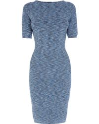 Karen Millen Space Dye Bandage Knit Dress - Lyst