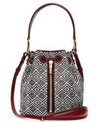 Elizabeth And James 'Cynnie Mini' Basket Woven Bucket Bag - Lyst