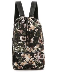 MSGM - Floral Print Backpack - Lyst