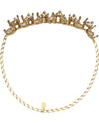 Erickson Beamon   Ringtone Gold-plated Swarovski Crystal Headpiece   Lyst