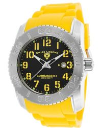 Swiss Legend - Commander Ii Yellow Silicone Black Dial - Lyst