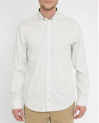 Tommy Hilfiger | White Micro-pattern Shirt | Lyst