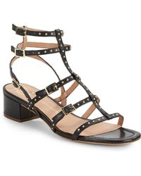 Vince Camuto Signature Bamaa Studded Leather Sandals - Lyst