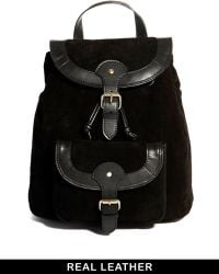 Asos Leather Vintage Style Backpack - Lyst