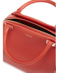 Lanvin - Trilogy Large Red Leather Bowling Bag - Lyst