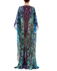 Amanda Wakeley - South Beach Print Chiffon Long Caftan - Lyst