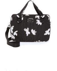 "Marc By Marc Jacobs Pretty Nylon Painted Flower 15"" Commuter Bag - Black Multi"