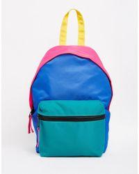 ASOS - Mini Colourblock Festival Nylon Backpack - Lyst
