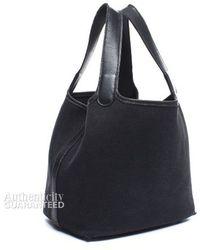 Hermès Pre-Owned Black Canvas Picotin Bag black - Lyst