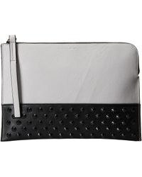 French Connection Gray Motley Clutch - Lyst