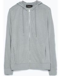 Zara Light Open Sweatshirt gray - Lyst